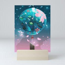 Japanese glass wind bell Mini Art Print