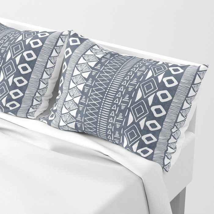 Adobe In Navy Blue And White Pillow Sham By Beckybailey1 Society6