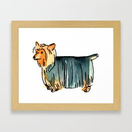 Cashew - Dog Watercolour Painting Framed Art Print