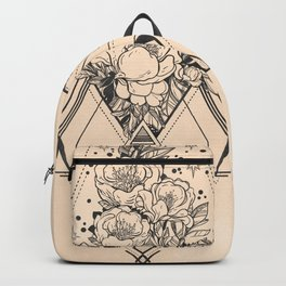 Desert Geometric Roses Coral Backpack