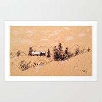 switzerland Art Prints featuring Switzerland by Heather Hartley