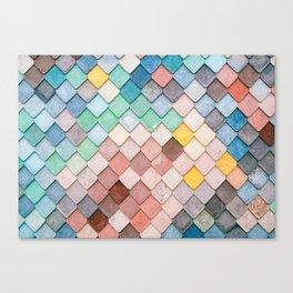 Bricks Full of Color Canvas Print