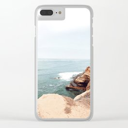 Cliffside Stairs Clear iPhone Case