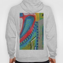 Abstract landscape - bright, eye-opening, vibrant color piece Hoody
