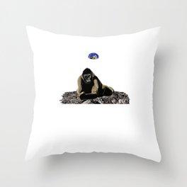 Moon Silverback Throw Pillow