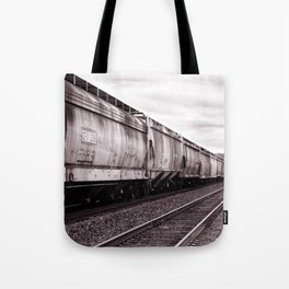 Long Train Tote Bag