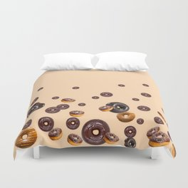 LOVE MY CHOCOLATE  DONUTS Duvet Cover