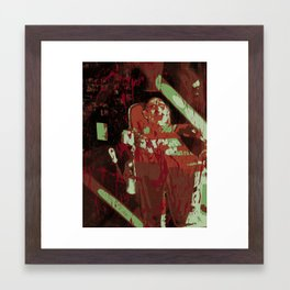 ABSTRACT FREDDY KRUEGER Framed Art Print