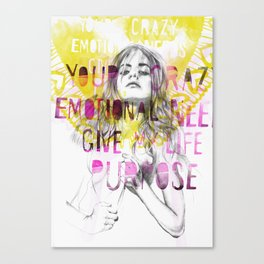 Give me purpose  Canvas Print
