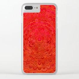 Fire Flower Mandala Clear iPhone Case
