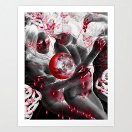 Moon Sisters Art Print