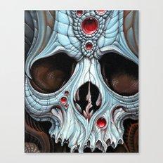 blue skull red jewels Canvas Print