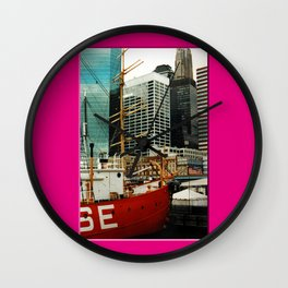 Americana - Pier 17 - Manhatten - NYC Wall Clock