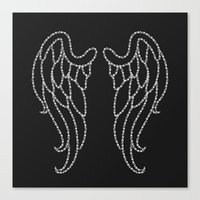 angel wings Canvas Prints featuring Angel Wings by Pink Berry Patterns