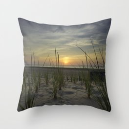 Sunrise Over the Dunes Throw Pillow