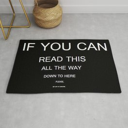 if you can read this new 2018 word typography art funny words fun Rug