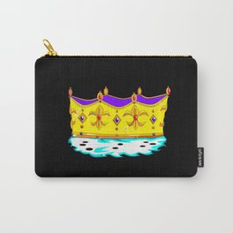 A Royal Gold Crown with Black Background Carry-All Pouch