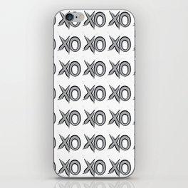XOXOXO silver iPhone Skin