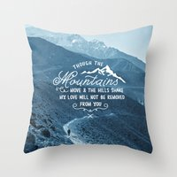 pocketfuel Throw Pillows featuring NOT SHAKEN by Pocket Fuel