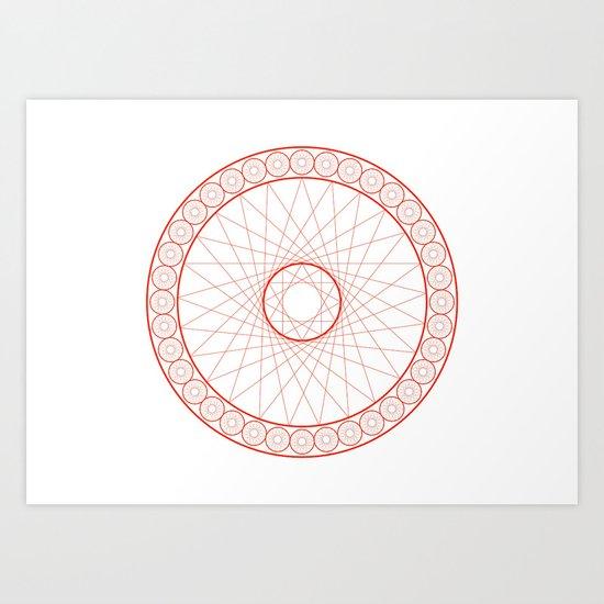 Anime Magic Circle 13 Art Print