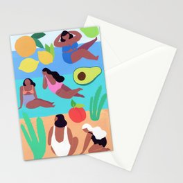 Fruity Beach Stationery Cards