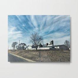 Midwest Farmstead Metal Print