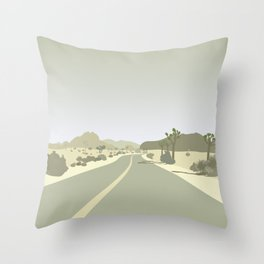 Joshua Tree Park - On the road Throw Pillow