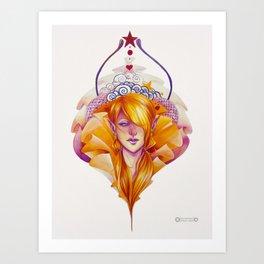 Orange fairy Art Print