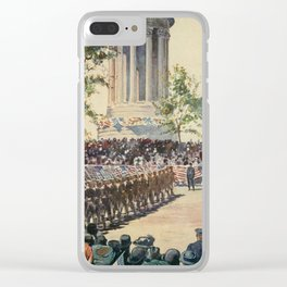 Lewis, Martin (1881-1962) - New York 1911 - Decoration Day Parade, Riverside Dve Clear iPhone Case