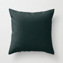 Black and Bayberry Polka Dots Throw Pillow