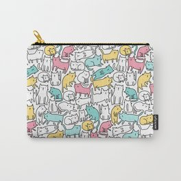 Cute kitties. Cats pattern. Carry-All Pouch