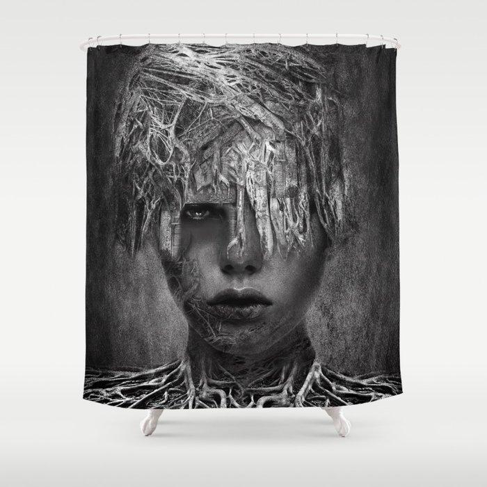 Ina - B&W Shower Curtain