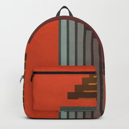 Stepped Retro Color Backpack