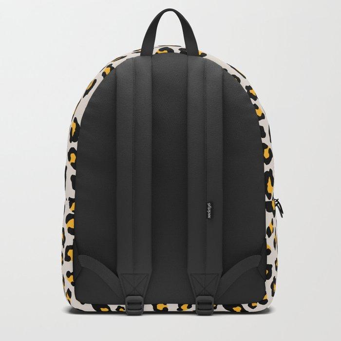 Leopard Print - Mustard Yellow Backpack
