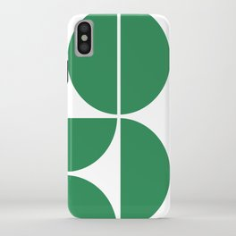 Mid Century Modern Green Square iPhone Case