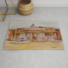 The Broken Spoke - Austin's Legendary Honky-Tonk Watercolor Painting Rug