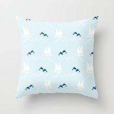 Playful Sea Throw Pillow