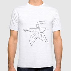 This is a fun time. SMALL Mens Fitted Tee Ash Grey