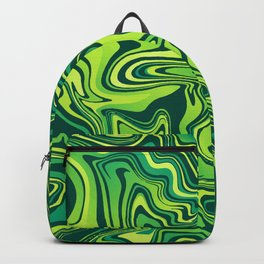 Green Lime Marbled Agate Backpack