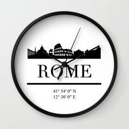 ROME ITALY BLACK SILHOUETTE SKYLINE ART Wall Clock
