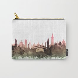 Venice Skyline Watercolor Blush Taupe Green by Zouzounio Art Carry-All Pouch