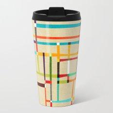 The map (after Mondrian) Travel Mug