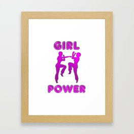 Girl Power Martial Arts Sparring Females Framed Art Print