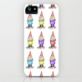Colorful Watercolor Lucky Gnomes iPhone Case