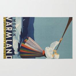 Vintage poster - Sweden Rug