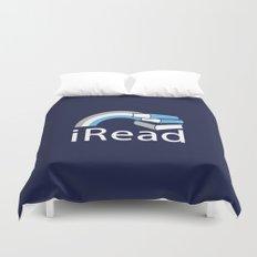 i Read   Book Nerd Slogan Duvet Cover