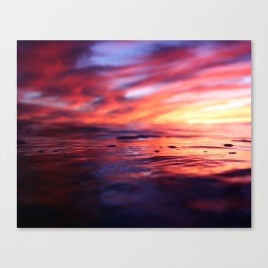 Miniature Sunset Beach Canvas Print