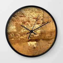 Rock Face in Lagos, Portugal Wall Clock