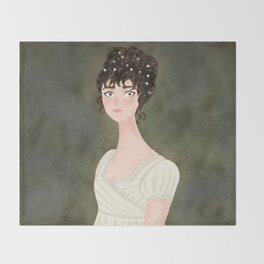 Elizabeth Bennet Throw Blanket