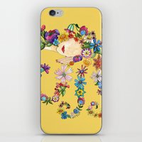 sleeping beauty iPhone & iPod Skins featuring Sleeping Beauty by Shelley Ylst Art